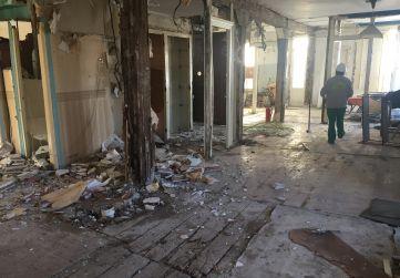 desescombrado del interior del edificio 1