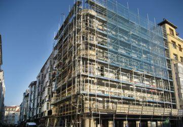 montaje andamio fachada