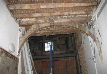 desmontaje primer tramo escalera existente