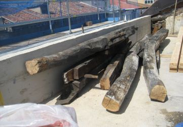 acopio madera para reutilización