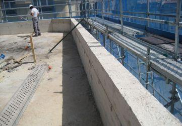 zócalo hormigón apoyo estructura