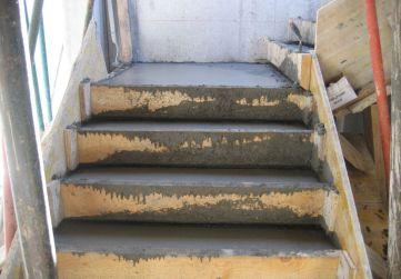 escalera hormigonada