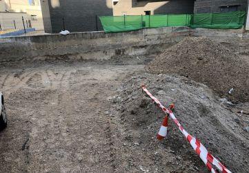 rampa acceso a excavación