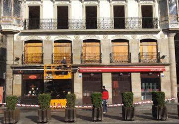 trabajos en fachada planta baja