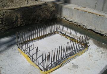 hormigonado zapata de ascensor