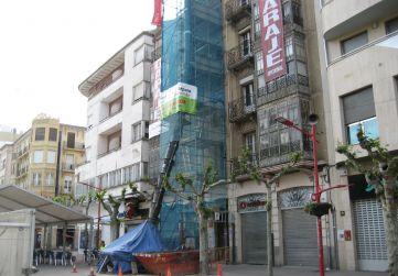 torre andamio retirada escombro