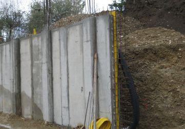 Junta trabajo muro cimentación