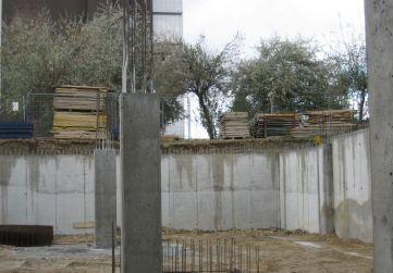 Pilares Planta Sótano hormigonados