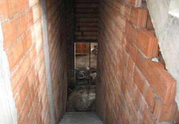 Albañilería en caja escalera