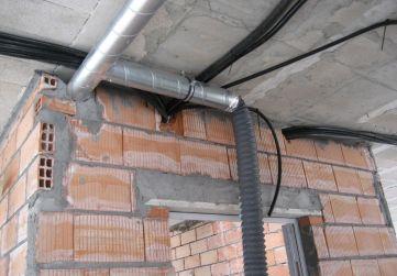 Instalación ventilación distribuidores viviendas