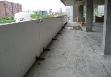 Cara interior prefabricados peto de terrazas