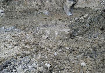 Antigua zapata de cimentación