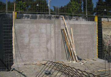 Muro por bataches hormigonado
