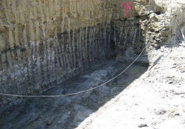 Excavación zapata corrida muro
