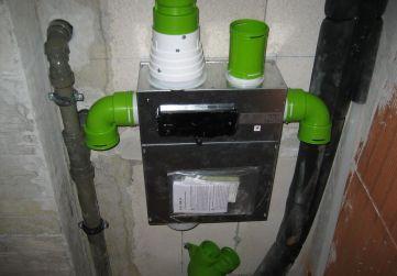 Colocación motores instalación de ventilación Planta 1º