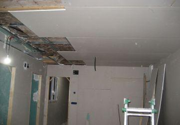 Comienzo colocación falsos techos