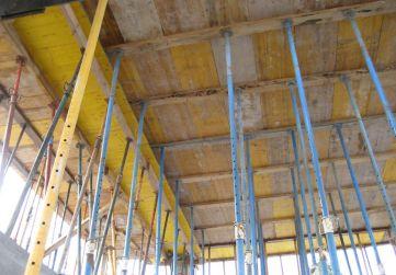Apuntalamiento forjado techo rampa de garaje