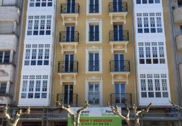 Desmontaje andamio fachada principal.