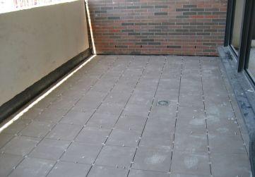 Detalle colocación pavimento terrazas