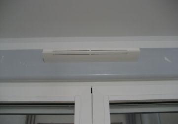 Colocación aireadores sistema de ventilación